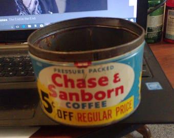 lot 6/ chase sanborn coffee tin