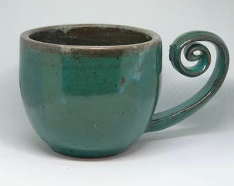 Curly Handle Mug