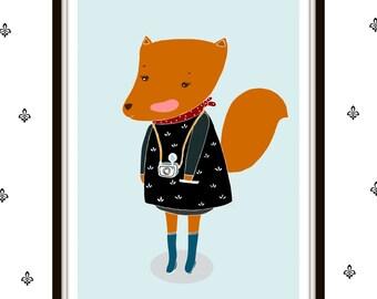 Print- Foxy Photographer-