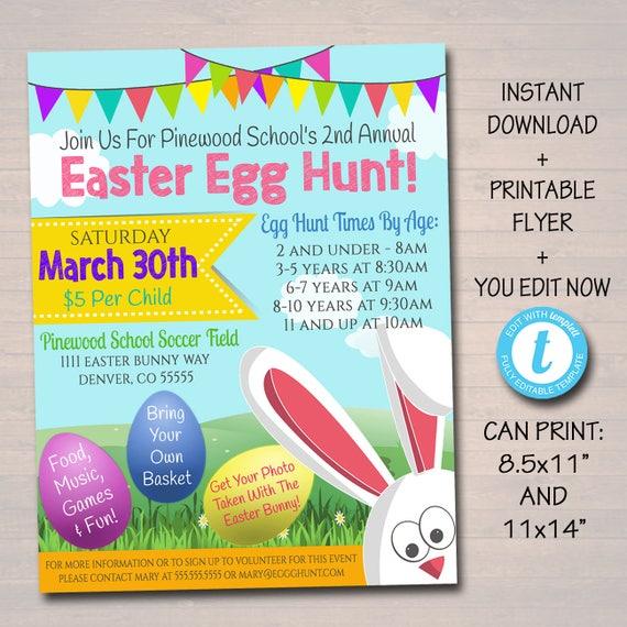Editable Easter Egg Hunt Flyer