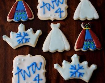 Winter Princess Decorated Sugar Cookies