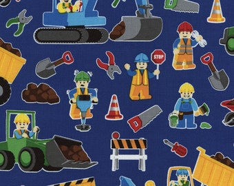Royal Construction Blue by Timeless Treasures Collection Quilt Fabric by the Half Yard