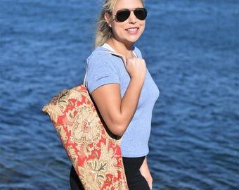 Red Baroque Yoga Mat Bag