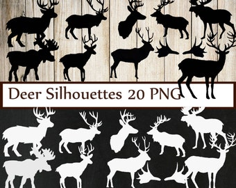 "Chalboard Deer clipart: ""ANTLERS CLIP ART"" Antlers clipart deer clip art weeding clipart Silhuettes clip art invites clip art commercial"