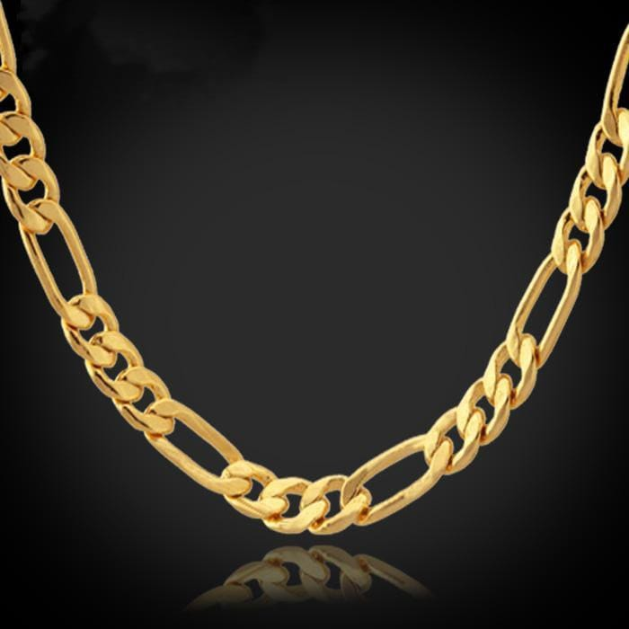 840 Gold Stainless Steel Necklace Chain Men Jewelry