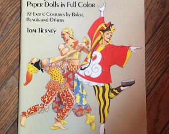 Vintage 1986 Diaghilev's Ballets Russes Paper Dolls Book Tom Tierney