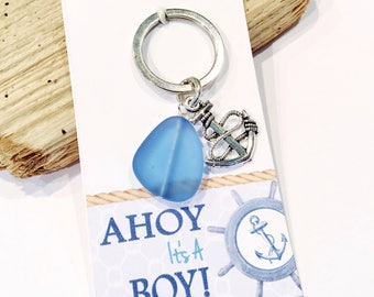 Ahoy Its A Boy Favors Nautical Baby Shower Favors For Boy Sailor Baby Shower  Anchor Keychain Favor Nautical Shower Favor Anchor Favors