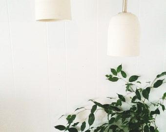 Artisan hand thrown Porcelain Light