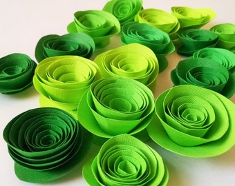 St Patricks Day Decorations, Green Paper Flowers, Green Decor