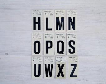 vintage letter, alphabet stickers