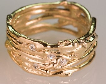 Recycled Gold Wedding Band - Mens