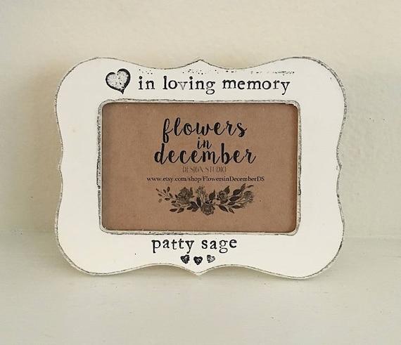 Memorial gift, In loving memory picture frame, in memory of ...