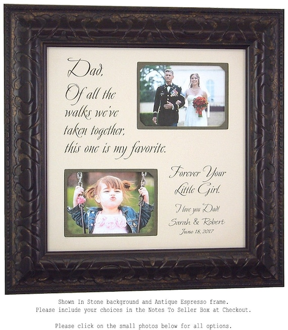 Father Daughter Wedding Photo Frame Picture Frame Ideas