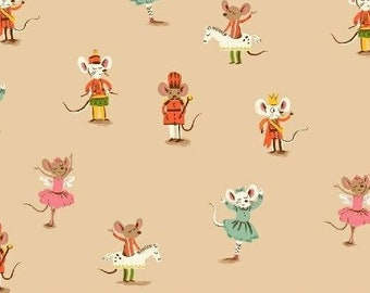 Nutcracker in Peach - Sugar Plum by Heather Ross for Windham Fabrics