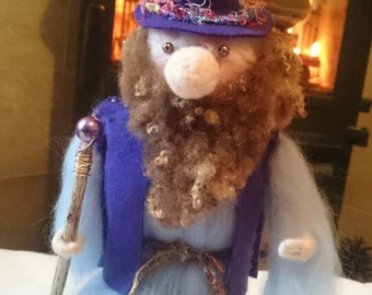 Hand made wool felt Wizard - meet Patrick
