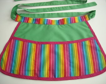 Rainbow Stripes Craft Apron