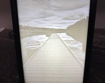 Custom 3D Printed Lithophane LED Light Box, Wedding Gift, Valentines Gift