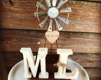 Farmhouse Wedding Cake Topper /  Barn Wedding Cake Topper / Country Wedding Cake Topper / Farm cake topper / Rustic Cake