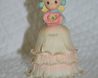 Vintage Collectible Fine China Month of August Bell