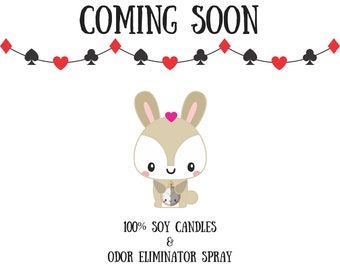 Coming soon! Soy Candles and odor eliminator spray