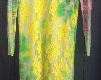 Vintage upcycled tye dye dress