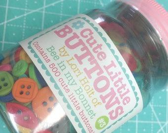 Cute Little Buttons Jar #3 by Lori Holt of Bee in my Bonnet