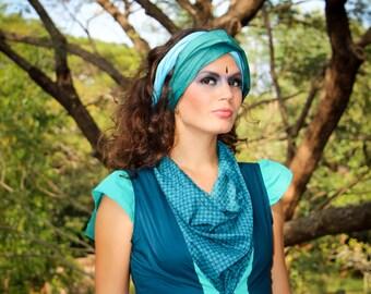 Robe Karma, 100% coton, turquoise