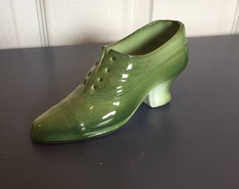 China very old green shoe gift ornament