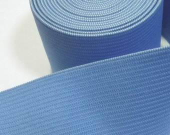 3yd /2.74 meter Copen Blue Heavy Duty Thick Waistband Elastic Band 1-1/2 inch / 3.8 cm width 1.5mm thickness EB45