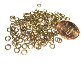 Raw Brass Open Jump Rings 4mm 22ga