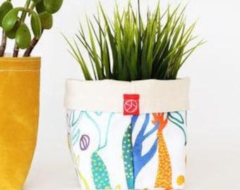 Fabric Bucket - Flora (multiple sizes avail.)