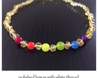 Baltic Amber Teething Necklace - RAINBOW