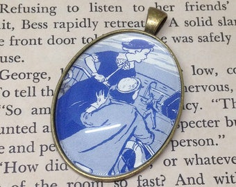 "Nancy Drew ""The Mystery of the Brass Bound Trunk"" pendant"