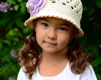 CROCHET PATTERN - In Full Bloom - crochet sun hat pattern, cloche hat pattern, spring hat pattern (Infant - Adult L) - Instant PDF Download