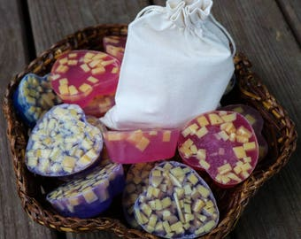 Hand-Crafted Valentine Heart Dual Soap Gift Set