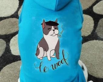 Le Woof Dog Hoodie Sweatshirt