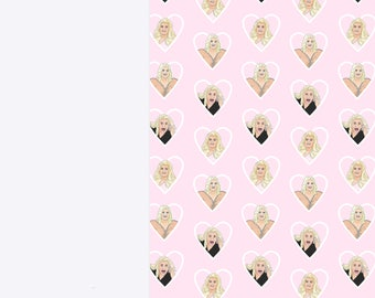 Gemma Collins Luxury Wrapping Paper Sheets | A3 Gift Wrap | 29.7 x 42.0CM Sheets | Memes, Essex