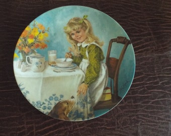 "John McClelland Collector Plate ""Breakfast""  With COA Plate # 7680A Recco, Souvenir Plate, Vintage Plates, COllectors"