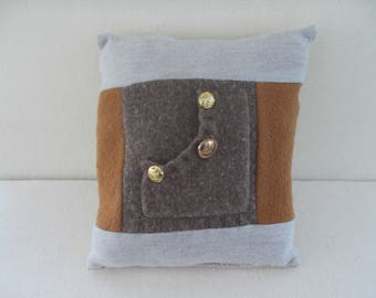 wool quilted pillow