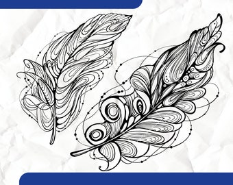 Feathers - Digital Stamps