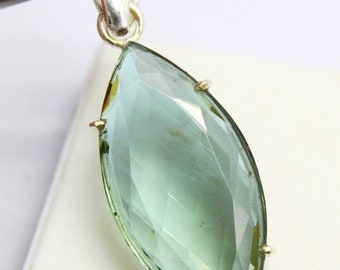 56.95Ct Certified Color Changing Alexandrite Pendant 925 Solid Sterling Silver AQ296