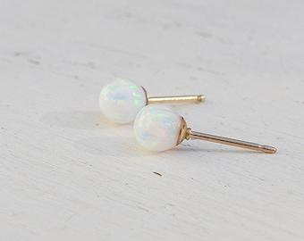 Opal earrings stud,opal earrings,white opal earrings,opal studs,gold opal earrings,minimalist earrings,gold earrings,opal jewelry
