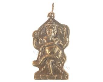 Ganesha necklace, ganesh pendant, om necklace. Hindu elephant god necklace Indian god ganesh Halskette collier de ganesh ketting