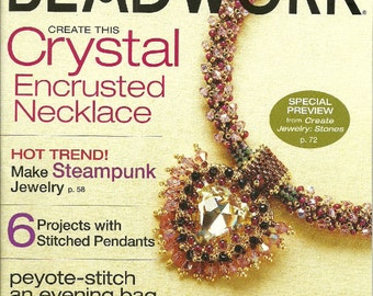 Bead Work October November 2008 Jewelry Magazine Like New  projects Volume 11 Number 6