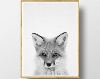 Fox Print, Woodlands Nursery, Printable Woodlands, Woodlands Decor, Nursery Animal, Woodlands Fox, Nursery Woodland Art, Nursery Print