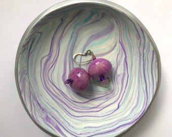 Jewelry Storage | Marbled Clay not Ceramic Dish | Trinket Dish | Ring Dish | Jewelry Dish | Gift under 20 | Mother's Day | Gift for Her