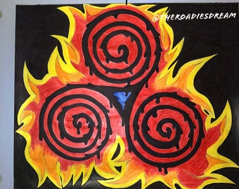 The Symbol of the Three Realms Aflame