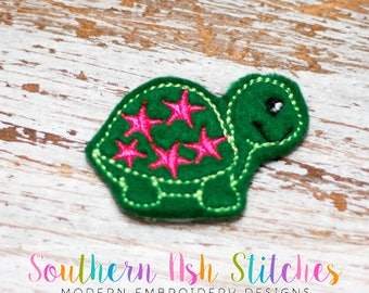 Star Turtle Feltie Embroidery Digital Download