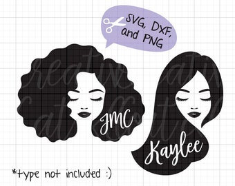 Woman Face SVG DXF Black Woman svg African American Woman svg Afro Hair svg Woman Face Silhouette Black Girl Face svg dxf Cut File