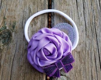 Hair Accessory, Girls Accessory, Flower Headband, Spring Flower, Flower Girl, Baby Headband, Rolled Rose Flower, Easter Flower, Photo Prop